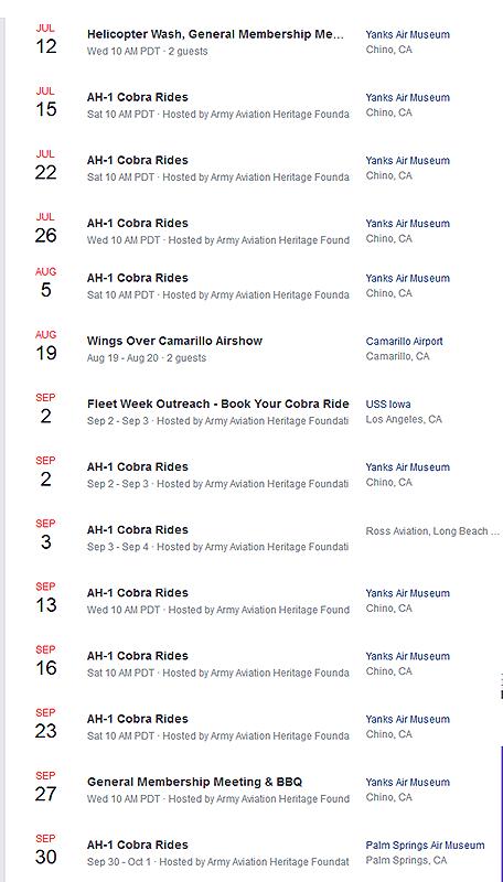 So Cal Ride Program Schedule